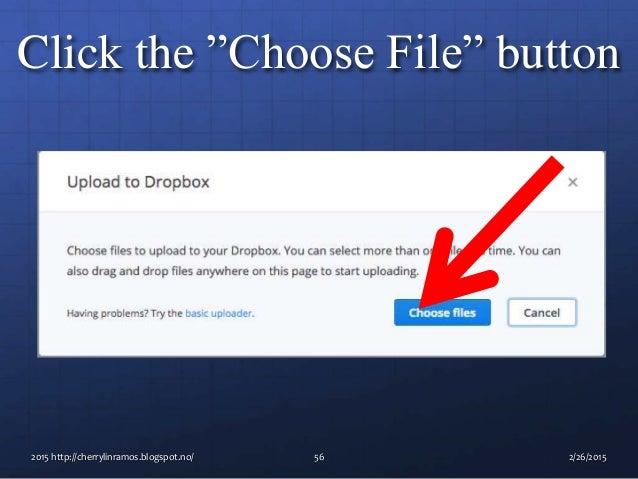 Basic tutorial how to use dropbox
