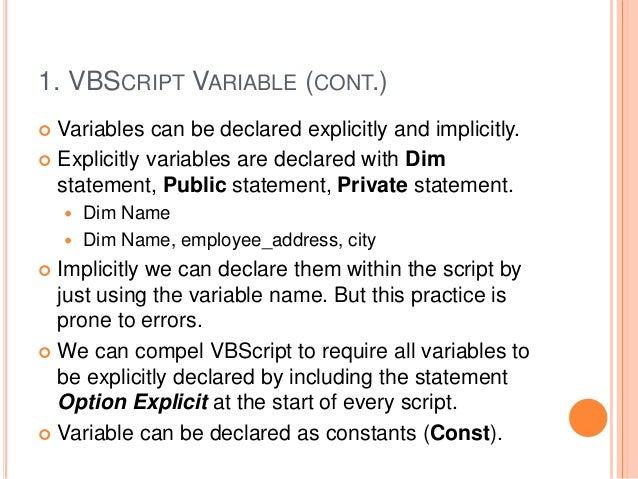 basic vbscript for qtp
