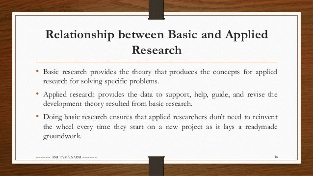 basic research vs applied research Both basic and applied researches are important to the advancement of human knowledge, but they work in slightly different ways, and they have different.