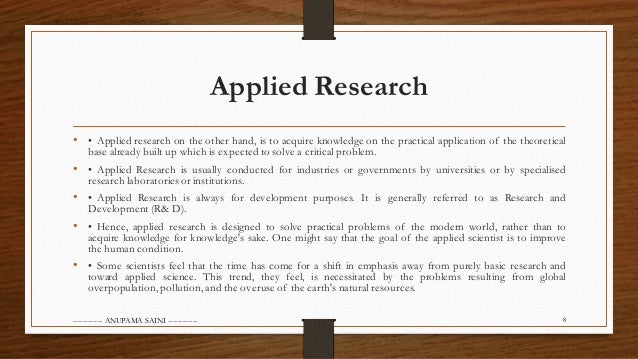 similarities and differences between basic and applied research Basic research vs applied research: how can we set priorities and what should the sensible ratio of resource allocation for both types of research be  the difference between basic, or pure.