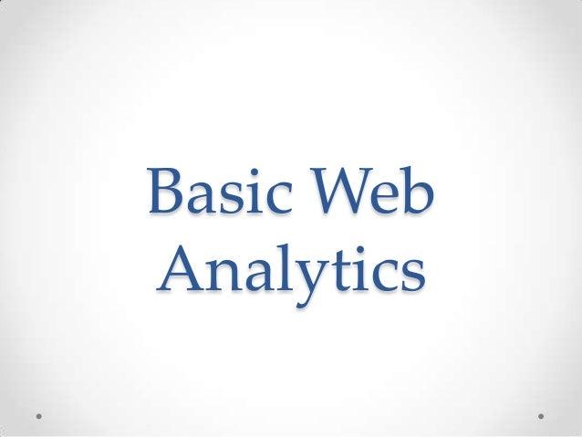 Basic Web Analytics