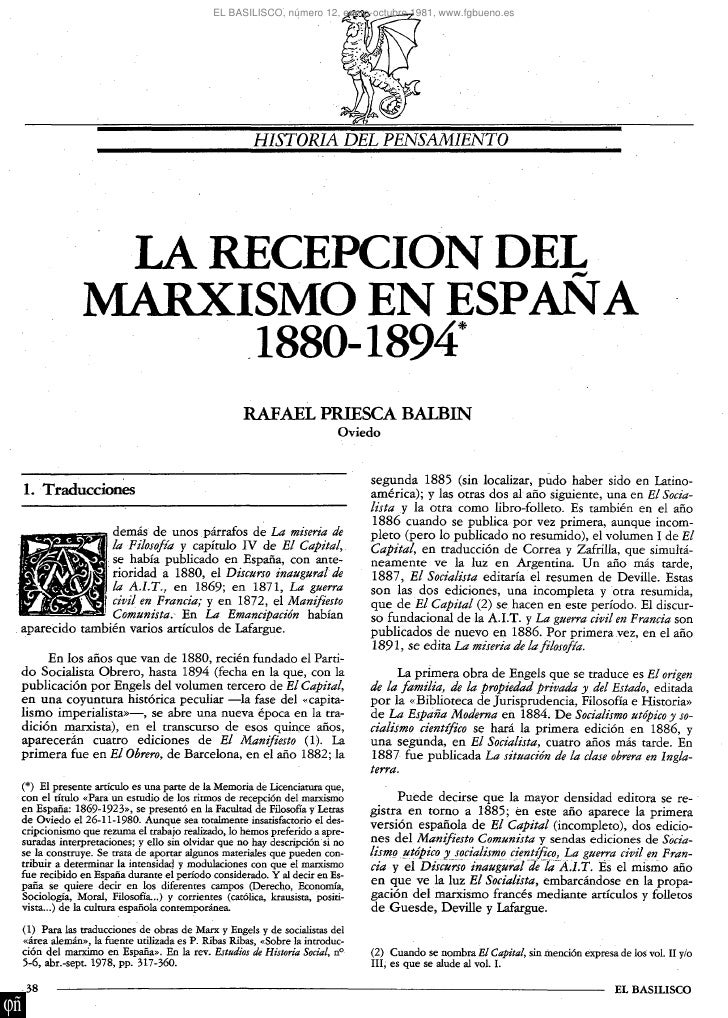 EL BASILISCO, número 12, enero-octubre 1981, www.fgbueno.es                                                     HISTORIA D...