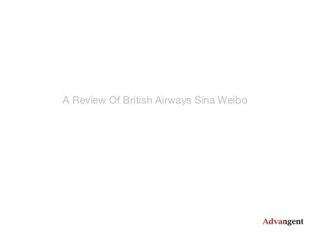 A Review Of British Airways Sina Weibo