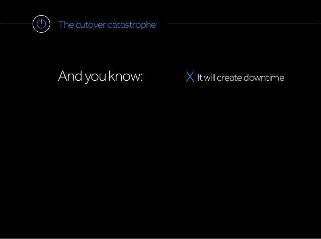 Thecutovercatastrophe Andyouknow: X Itwillcreatedowntime