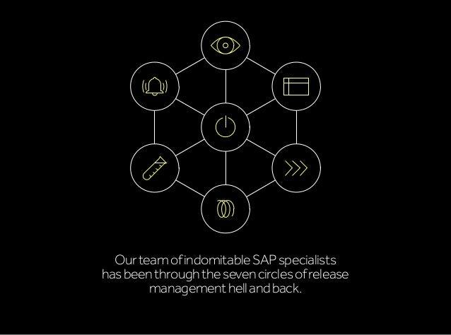 OurteamofindomitableSAPspecialists hasbeenthroughthesevencirclesofrelease managementhellandback.