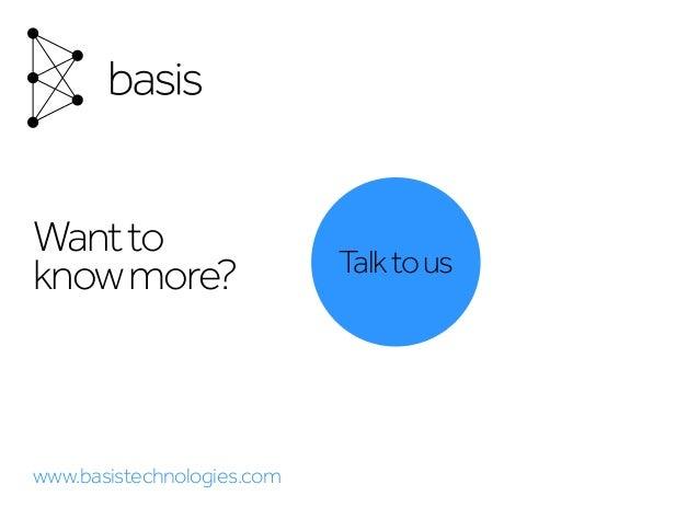 Talktous Wantto knowmore? www.basistechnologies.com