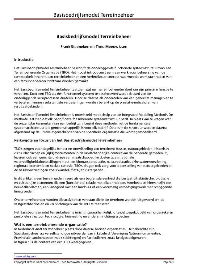 Basisbedrijfsmodel Terreinbeheer