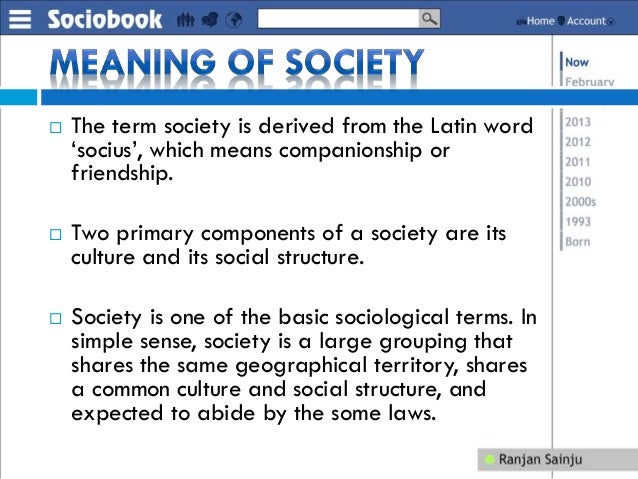 definition of basic concepts of sociology Of the concept of information, something that is key to contributing to the   campbell describes that once the concept of i was defined.