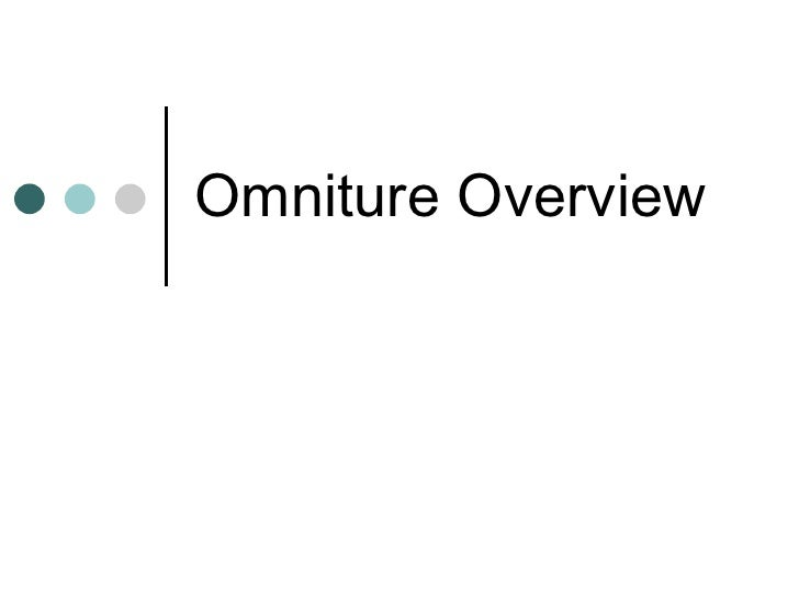 Omniture Overview