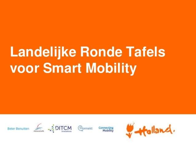 Landelijke Ronde Tafels voor Smart Mobility