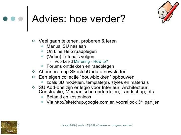 Basistraining google sketch up 7 versie 1 8 for Vloerplan maken
