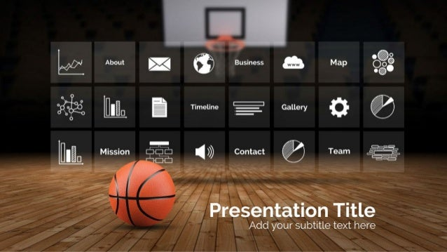 basketball 3d presentation template