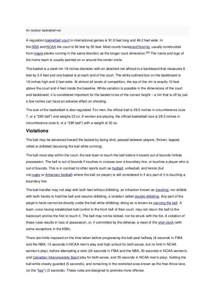 essay on basketball rules मुख्य लेख : rules of basketball basketball-referencecom: बास्केटबॉल सांख्यिकी.