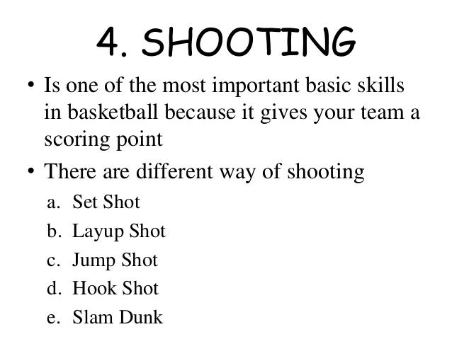 basic skills in basketball pdf