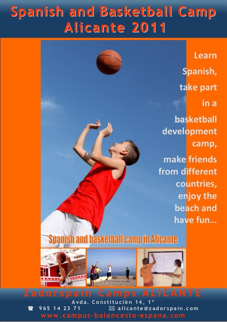 Spanish and Basketball Camp       Alicante 2011                                                Learn                      ...