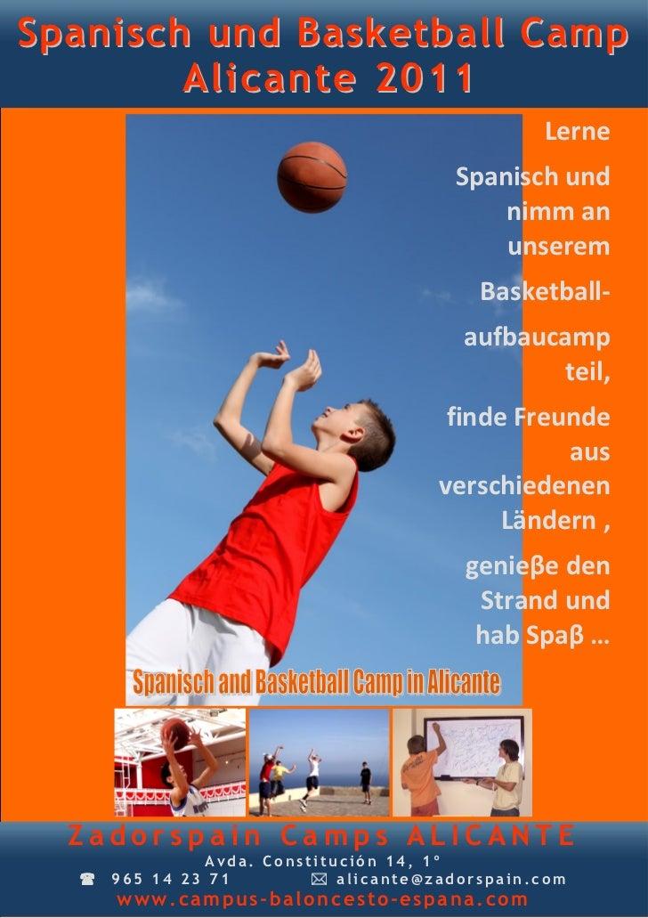 Spanisch und Basketball Camp        Alicante 2011                                                Lerne                    ...