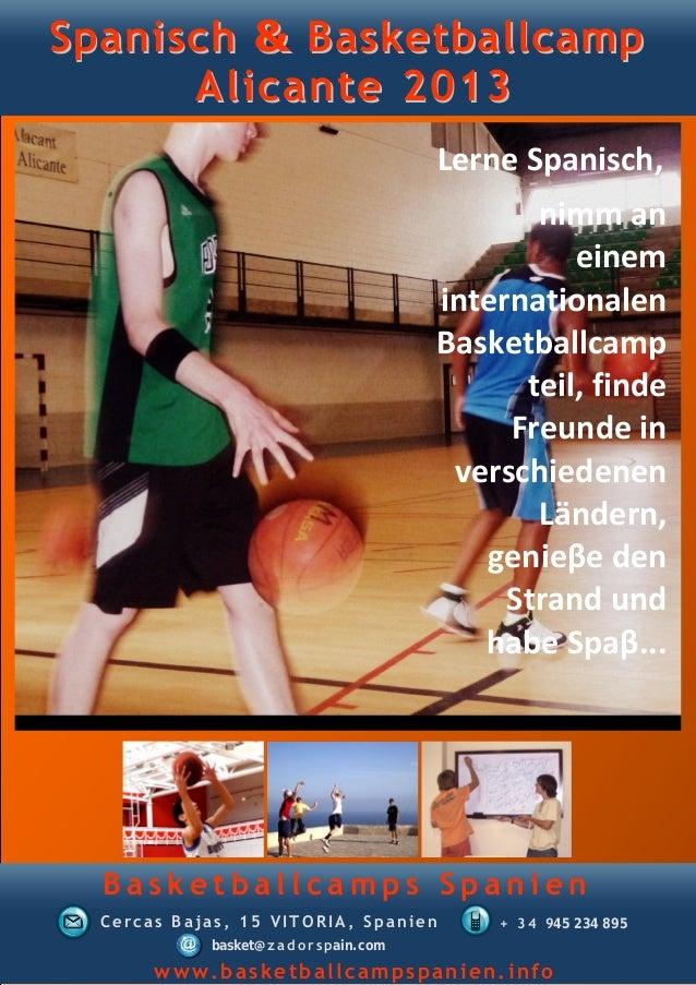 Spanisch & Basketballcamp      Alicante 2013                                           Lerne Spanisch,                    ...