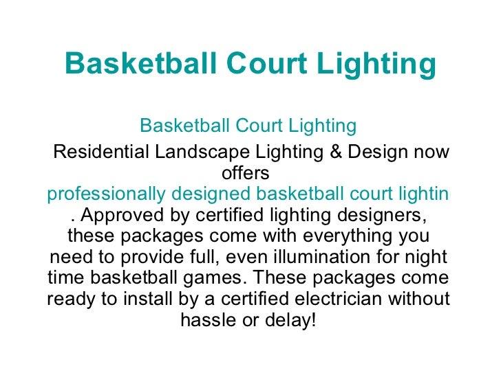 basketball court lighting