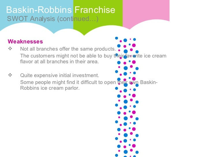 baskin robbins pest analysis Baskin won, and in 1945, baskin-robbins was born today, baskin-robbins has locations in more than 50 countries, each serving the company's famous 31 flavors of ice cream as well as frozen yogurt, sherbet, cakes and drinks.