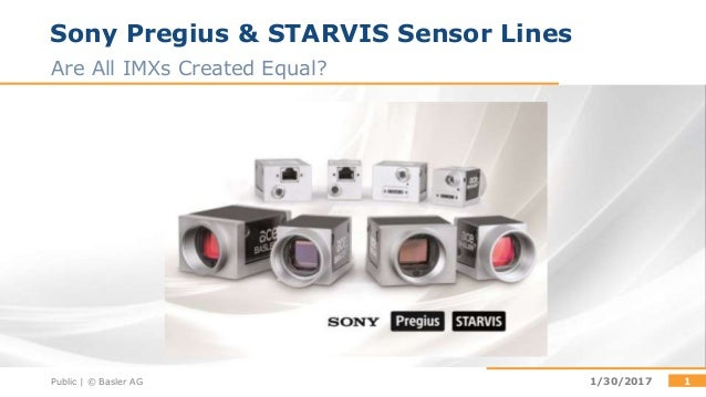 Sony STARVIS or Pregius? Which sensor to choose?