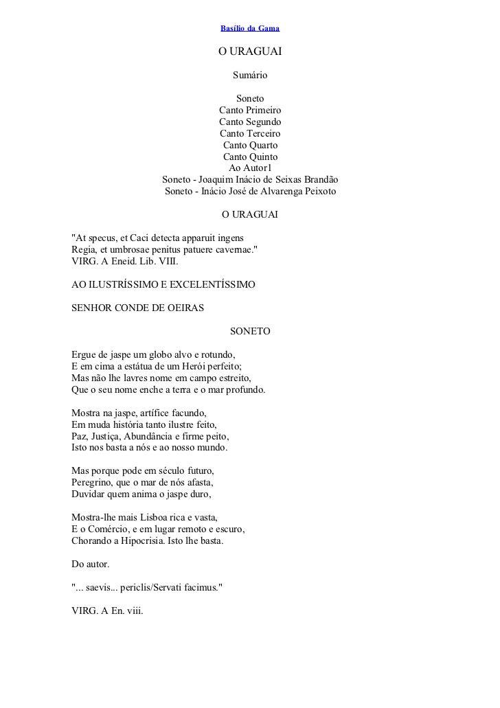 Basílio da Gama                                       O URAGUAI                                            Sumário        ...