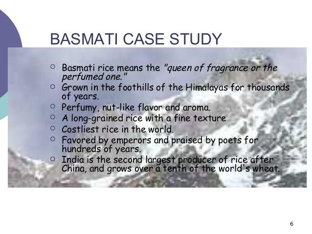 BASMATI RICE CASE STUDY - Course Hero