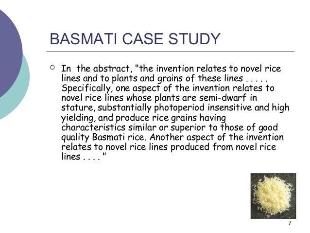A Study of the Basmati Case (India-US Basmati Rice Dispute ...