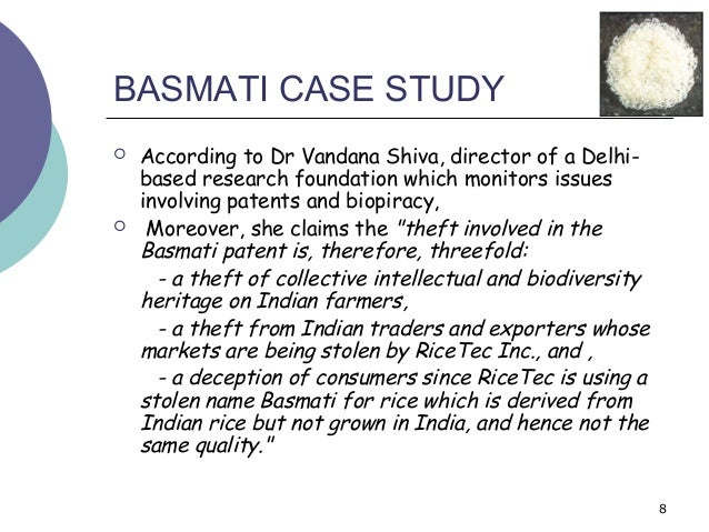 Case Study on Basmati Rice | Case Study Template