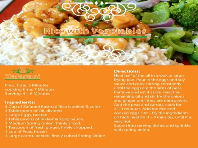 Basmati rice recipes