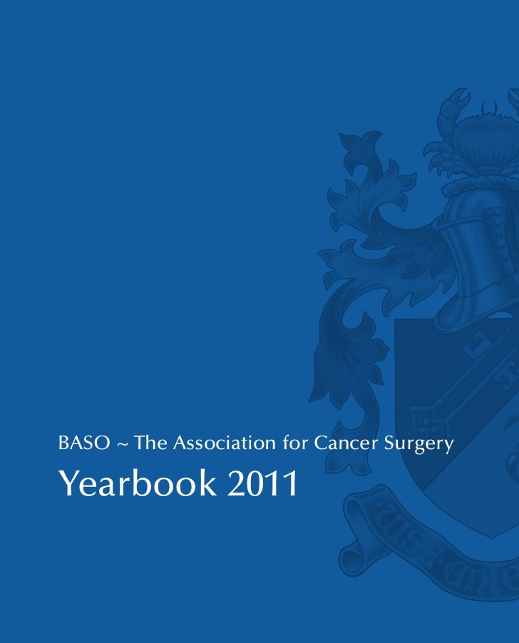 BASO ~ The Association for Cancer SurgeryYearbook 2011