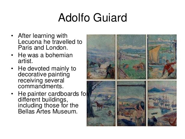 Adolfo Guiard • After learning with Lecuona he travelled to Paris and London. • He was a bohemian artist. • He devoted mai...