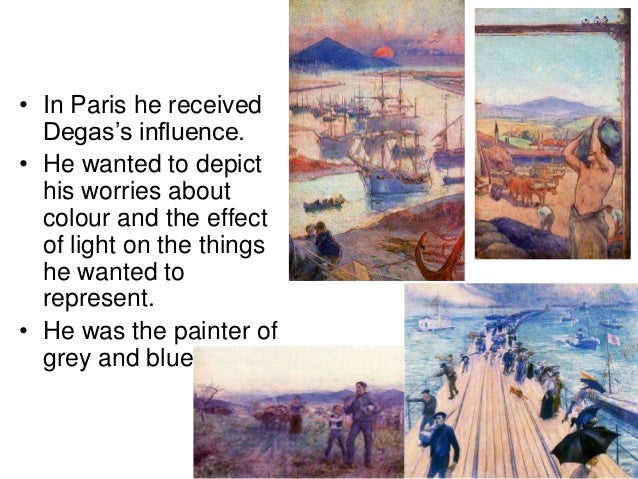 • In Paris he received Degas's influence. • He wanted to depict his worries about colour and the effect of light on the th...