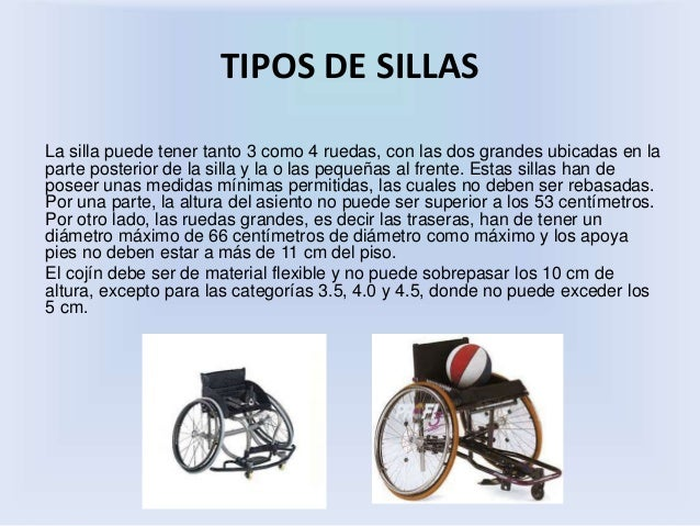 categorias de basket silla de rueda