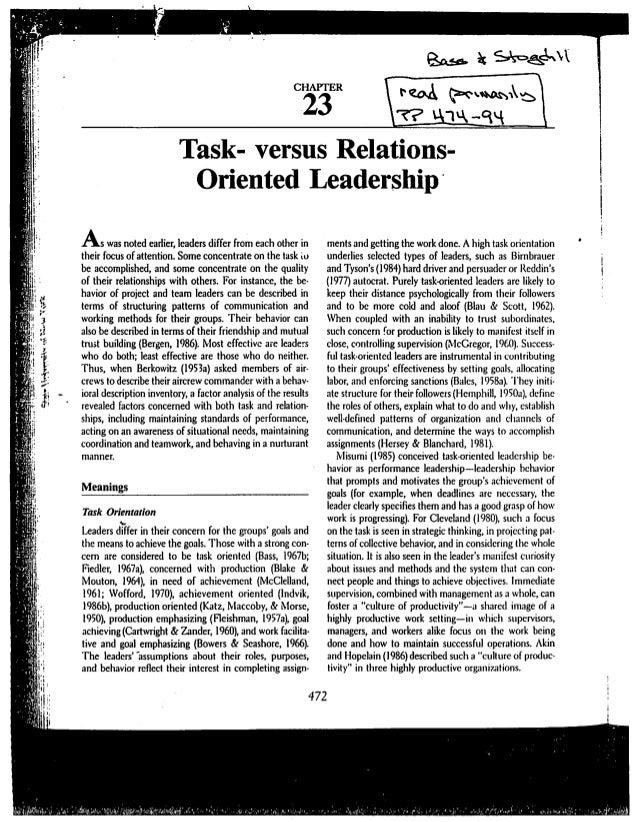 CHAPTER                                                           23                          Task- versus Relations-     ...
