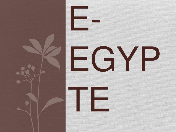 E-EGYPTE