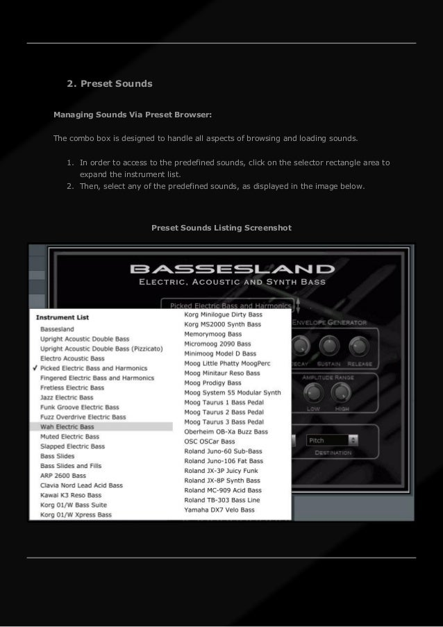 Bassesland: Electric, Acoustic and Synth Bass VST VST3 Audio Unit EXS…