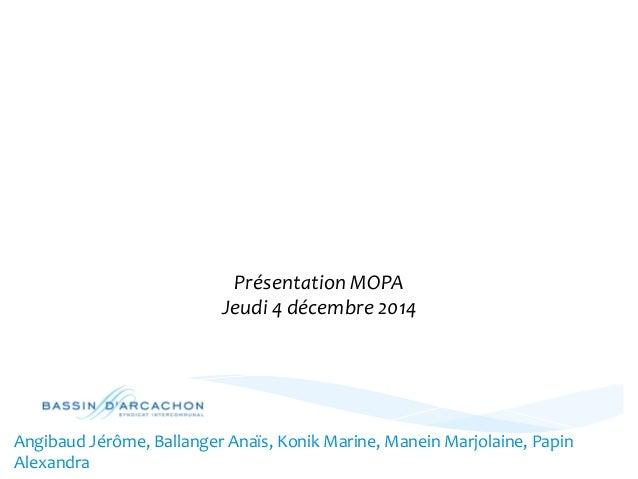 LA  MISE  EN  PLACE  D'UN  TOURISME  PARTICIPATIF  SUR  LE  BASSIN  D'ARCACHON  Présentation  MOPA  Jeudi  4  décembre  20...