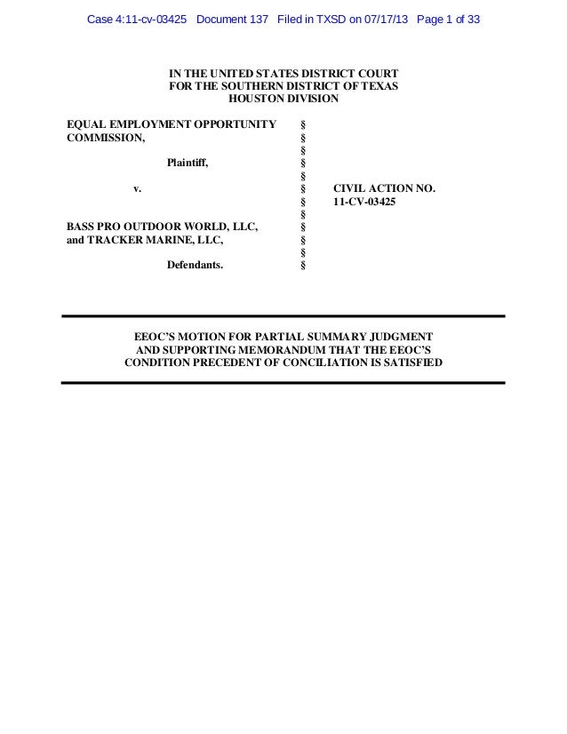 EEOC's Motion for Summary Judgment On Judicial Review of Conciliation…