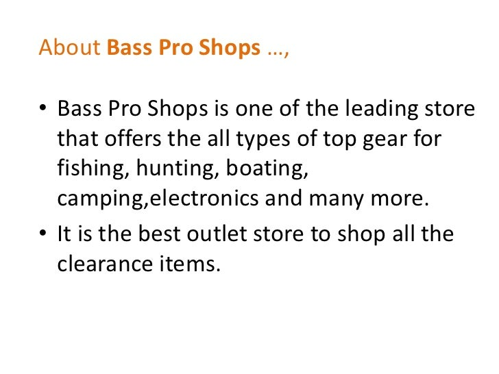 Bass pro discount coupon code