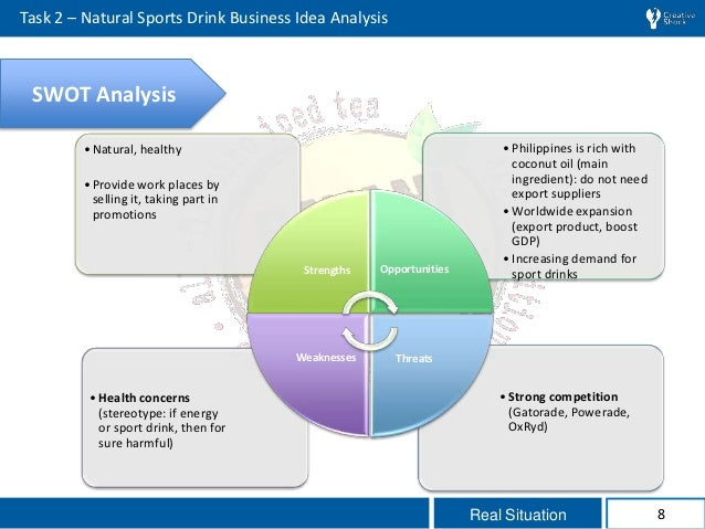 gatorade situation analysis Our situation analysis was in place and we could really benefit from knowing exactly what was going on in our business 16 people found this helpful you should be able to look at a situation analysis and figure out what.