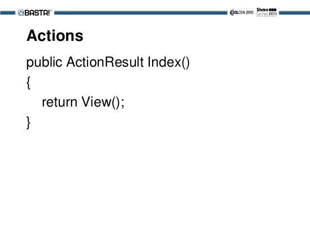 Passing Typed Data public ActionResult Index() { var p = new Person(); return View(p); }