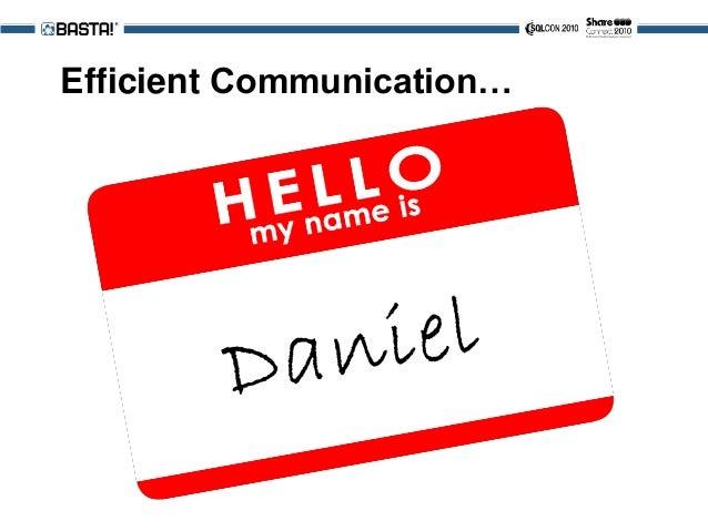 Efficient Communication…