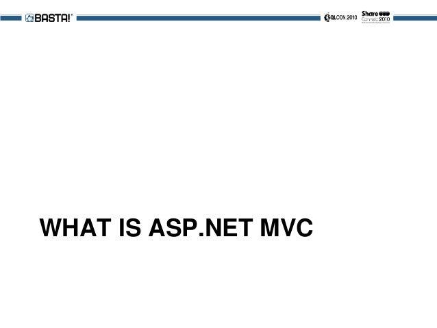 WHAT IS ASP.NET MVC