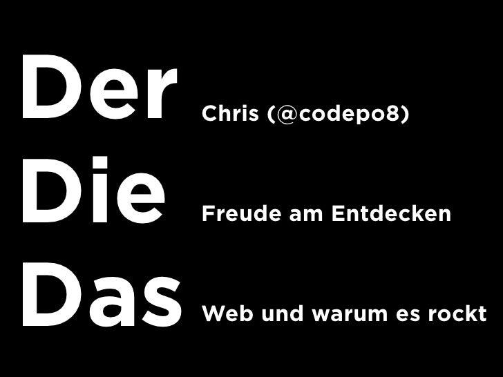 Bastelstunde mit dem web und freien-daten-webtechcon2010 Slide 3