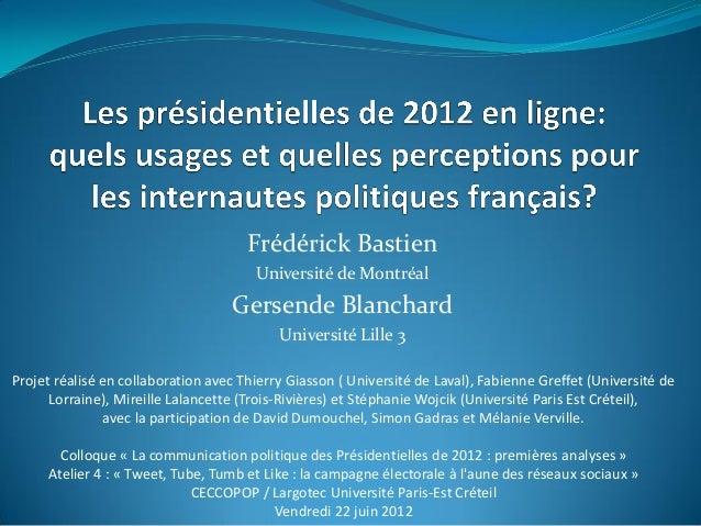 Projet réalisé en collaboration avec Thierry Giasson ( Université de Laval), Fabienne Greffet (Université deLorraine), Mir...