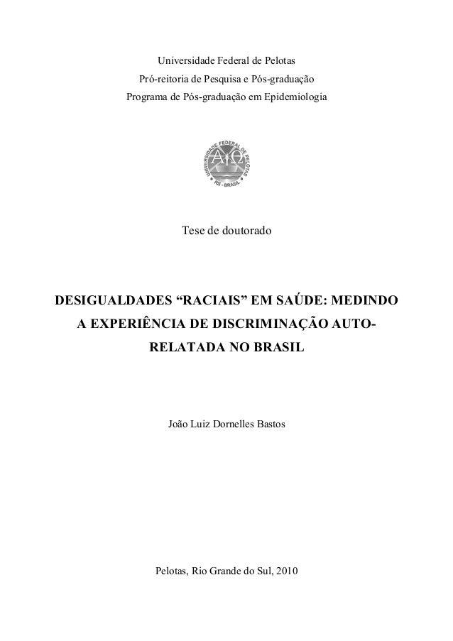 Universidade Federal de Pelotas  Pró-reitoria de Pesquisa e Pós  Programa de Pós  Pós-graduação  Pós-graduação em Epidemio...
