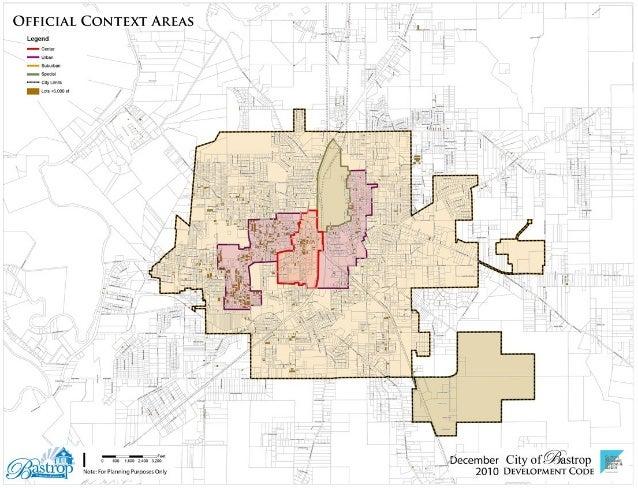 Bastrop official context areas