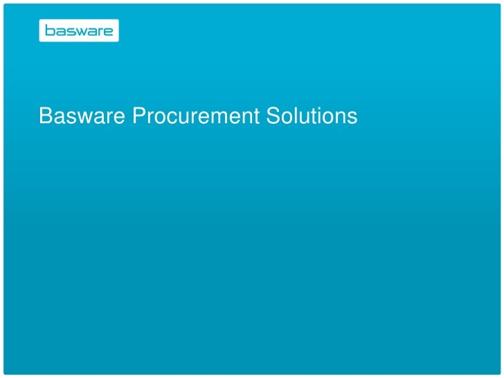 Basware Procurement Solutions