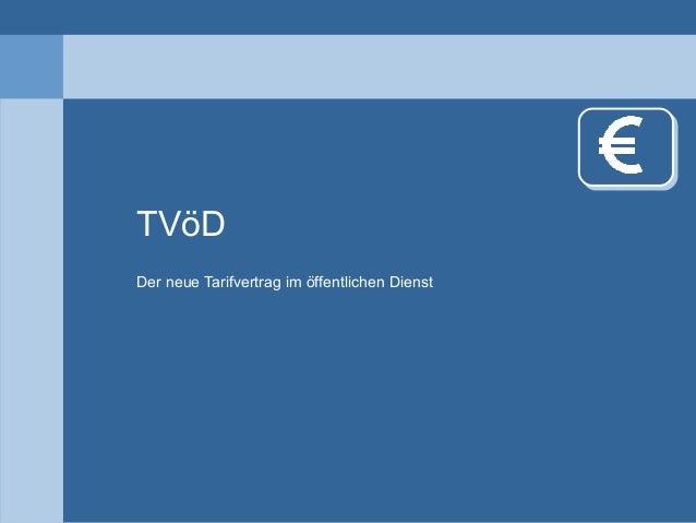 TVöD Der neue Tarifvertrag im öffentlichen Dienst
