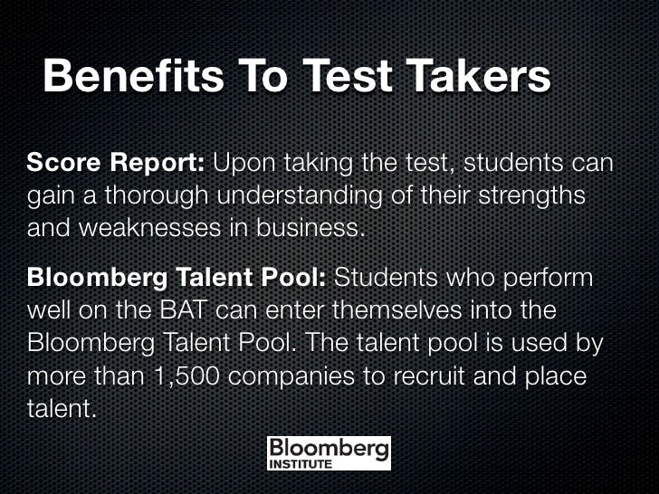 bloomberg assessment bat If you want to add value to yourself, do check out the bloomberg aptitude test  i have collected the following links to help you with your preparation for bat -.